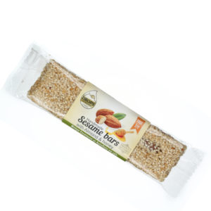 sesame bar with almonds